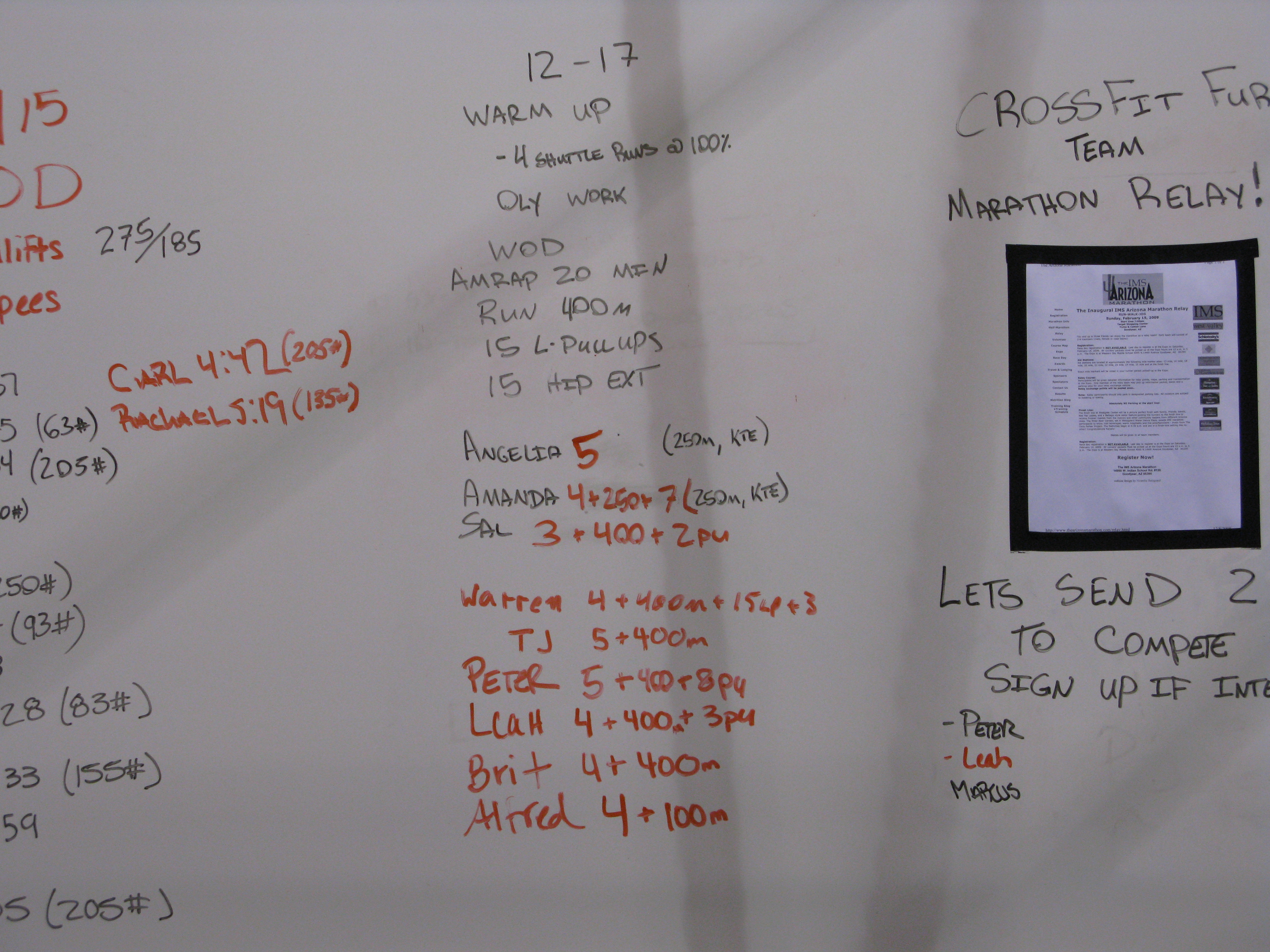Score Board 12-17
